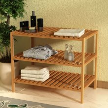 vidaXL Sink Shelf Solid Walnut Wood 65x40x55 cm