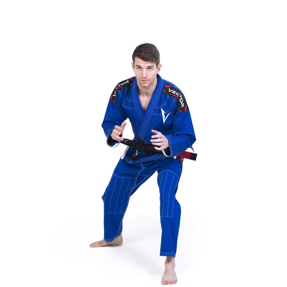 Vector Brazilian Jiu Jitsu BJJ Gi Kimono with FREE White Belt Lightweight  Preshrunk Pearl Weave 100% Cotton Fabric Attila Series (Blue, A3)