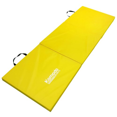 Komodo Tri Folding Gym Mat - Yellow