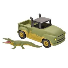 Wild Republic Tiger & Pick-up Truck Toy - 22cm Safari Adventure Hot Rod Pickup -  wild republic 22cm safari adventure hot rod pickup crocodile