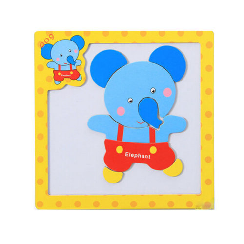 Wooden With Magnet Jigsaw Puzzle Children's Games Toys,Elephant