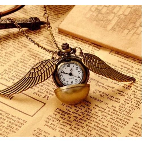 Harry Potter Hogwarts Gold Snitch Pocket Watch Clock  Gift Boys Girls