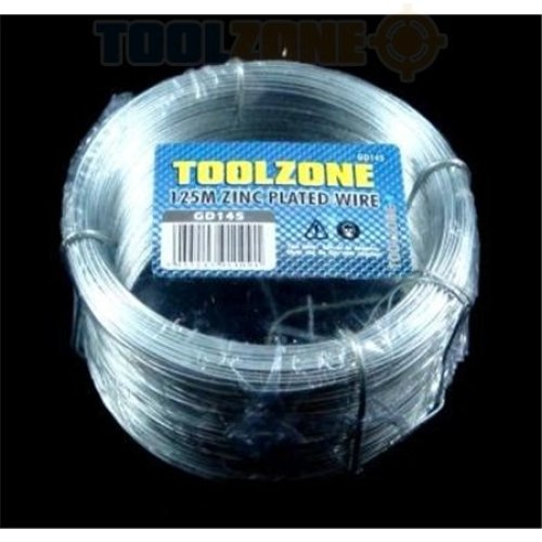 125m x 0.7mm Toolzone Zinc Galvanised Wire