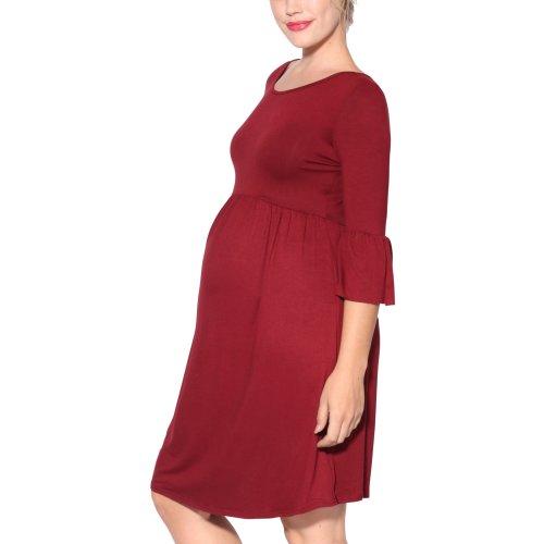 Frill Sleeve Jersey Midi Dress