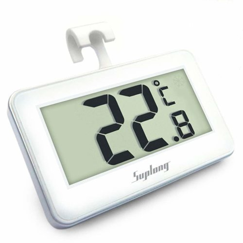 Fridge Thermometer Digital Refrigerator Thermometer, Suplong Digital Waterproof Fridge Freezer Thermometer With Easy to Read LCD Display