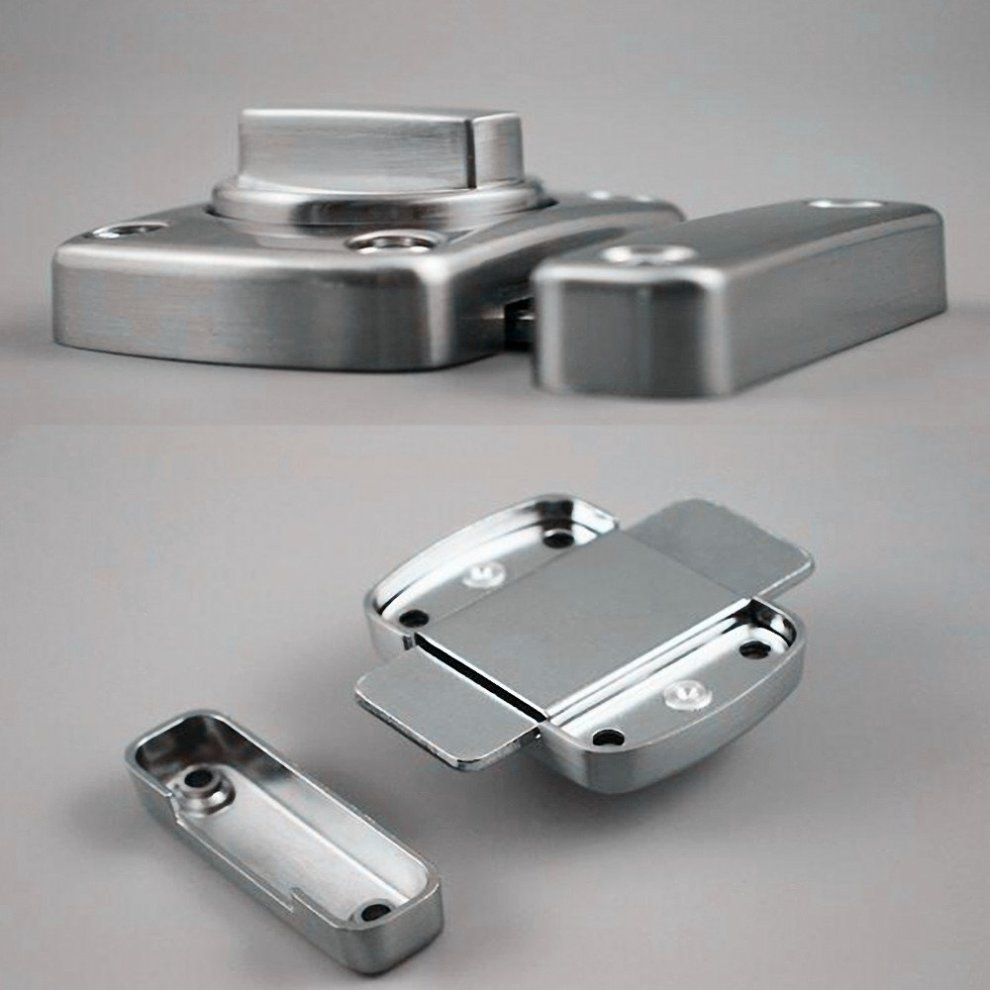 Bolt Latch LMYTech Rotating Door Latch//Gate Latch//Night Latch//Door Latch//Latch Lock//Bathroom Door Latch//Stainless Steel Brushed Finish//Applicable To Various Doors-Silver
