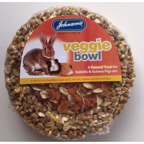 Jvp Rabbit & Guinea Pig Veggie Bowl 180g (Pack of 8)