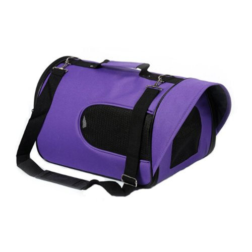 Pet Carrier Soft Sided Travel Bag for Small dogs & cats- Airline Approved, Purple #44