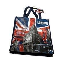 Capital London Shopping Bag Fabric Lightweight Reusable UK GB Souvenir Scenes
