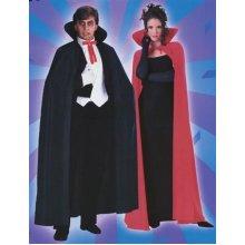 "Black Dracula Cape, 140cm (56"") -  cape black fancy dress halloween dracula vampire adult costume 56 long"