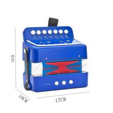 Musical Toy Happy Baby Accordion Instrument for Kids Early Educational Toy(Blue)