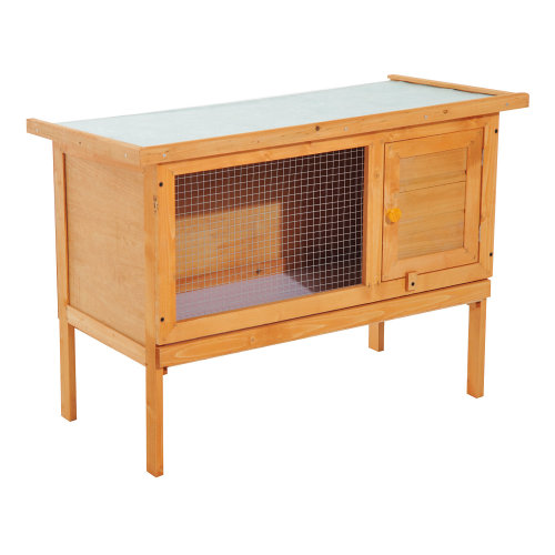 PawHut Wood Rabbit Hutch Shelter Garden Guinea Pig Elevated House