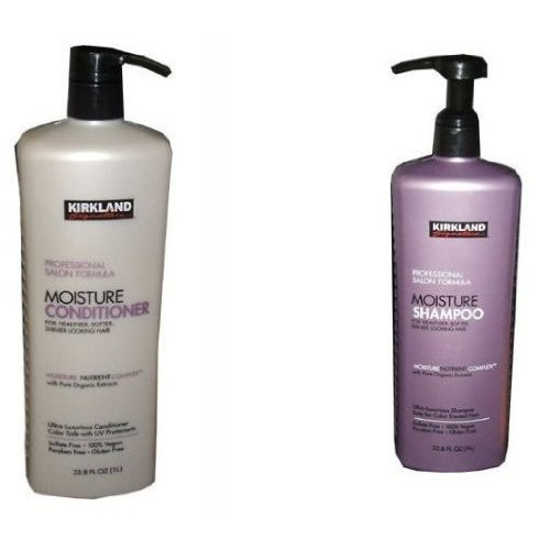 Professional Salon Formula Moisture Shampoo or Conditioner 33 8 Oz Each Shampoo Conditioner Set by Kirkland Signature