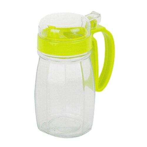 620ML Creative Kitchen Oil / Vinegar Cruet Square Glass Bottle Green