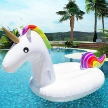 Pacago? Giant Inflatable Unicorn Pool Float, Outdoor Swimming Pool Floatie Float Lounge Toy Bed with Rapid Valves For Adults & Kids (Unicorn)