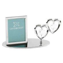 Mini Photo Frame Double Hearts