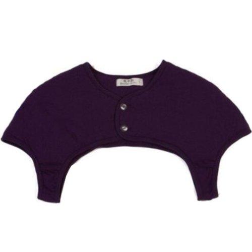 Unisex Prevent Arthritis Pain Thick Cotton Shoulder Warmers Clothing Shrugs XXL Size(Purple)