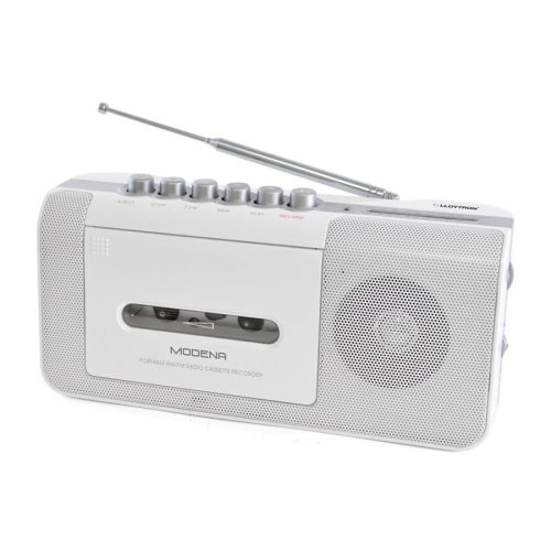 Lloytron N8103WH Modena Portable Radio Cassette Recorder with 2 Band Radio