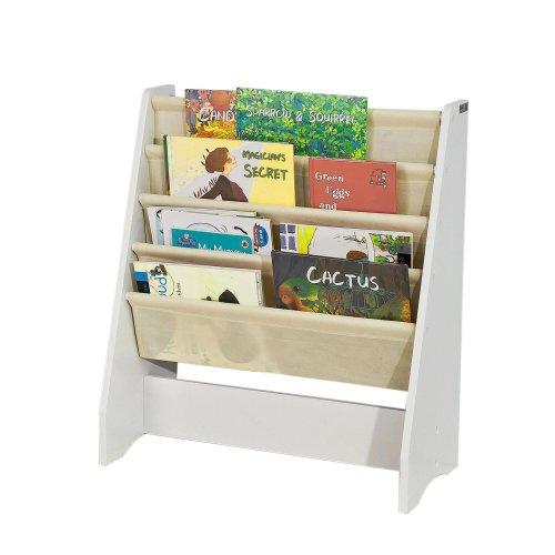 huge selection of d779a a55cd SoBuy® FRG225-W, Children Bookcase Sling Storage Rack Organizer Holder