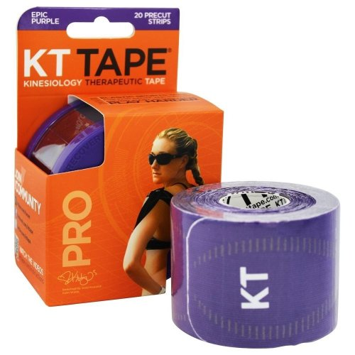 KT Tape Pro Synthetic Kinesiology Tape, Purple, 10-Inch