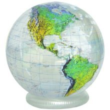 """Jet Creations 36"""" Inflatable Globe - Clear Topographic"""