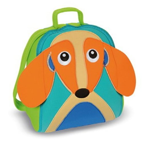 Oops Little Helper Thick Impenetrable and Fully Waterproof Neoprene Rucksack with Super Cute 4D Dog Appliqué (Multi-coloured)