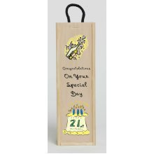 21st Birthday Congratulations Wine Box