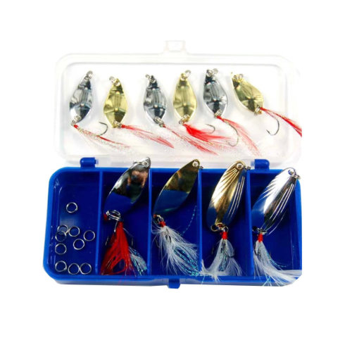 Set Of 10 Sequins Culter Ultralight Fishing Lures & Fishing Bait Traps Full Suit