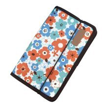 A5 Multilayer File Pocket Student Files Organizer Portable Briefcase-Flower