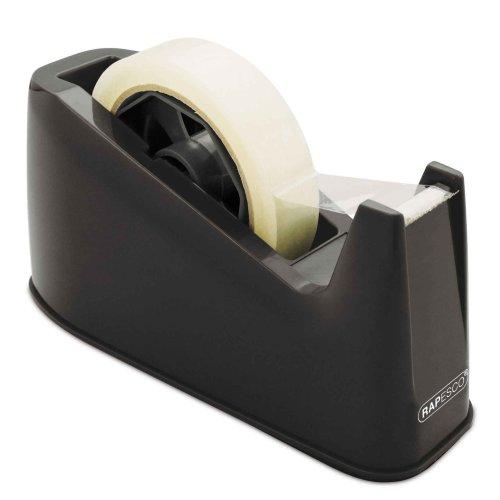 Rapesco 500 Heavy Duty Tape Dispenser, Tape Rolls up to 25 mm x 66 m - Black