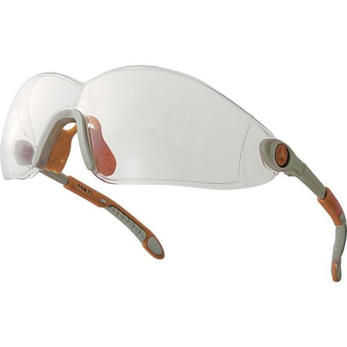 Delta Plus VULCANO Polycarbonate Lens Safety Spectacles / Glasses (Clear or Smoke)