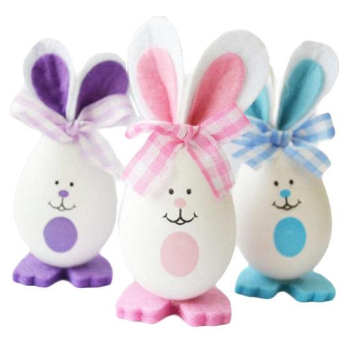 Three Plastic Easter Eggs/Children Rabbit Eggs/Gift/Decorations-3