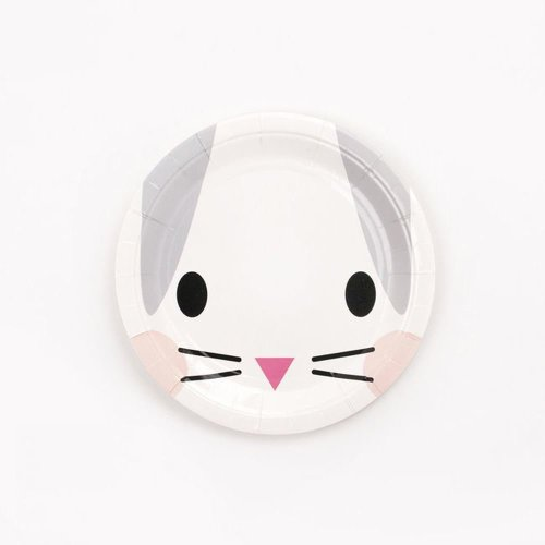 MINI RABBIT - Paper Party Plates x 8 Easter Party Christening