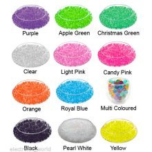 EXPANDING WATER AQUA CRYSTAL SOIL GEL BALL BEADS WEDDING VASE FLORIST BIO SOIL [Candy Pink,1 X 10g Packet]