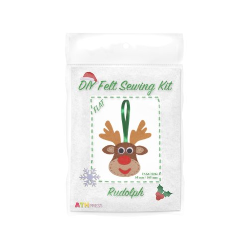 ATH Press - Christmas DIY Felt Sewing Kit Rudolph - flat