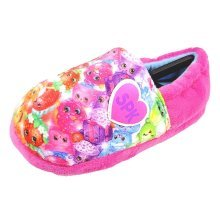 Shopkins Slippers in Pink Plush Fabric
