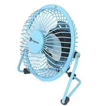 "Kingavon 4"" Blue Metal USB Fan 
