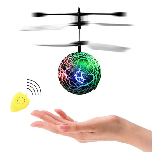 RCtown RC Flying Ball with Remote Control, RC Infrared Induction Helicopter Ball, Built-in Shinning Colour Changing LED Lights Present for Kids and...