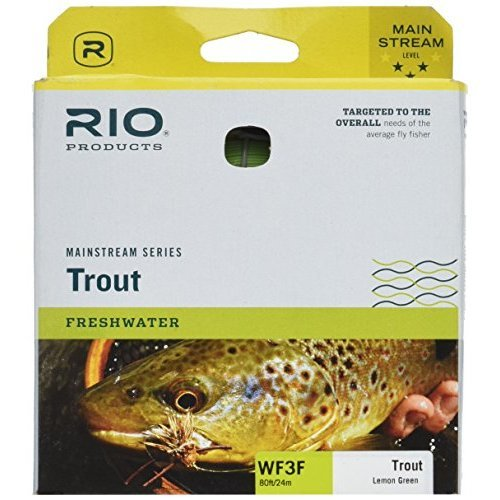 RIO Fly Fishing Brands 6-20740 80 ft. MainStream Floating Fly Line, Lemon Green