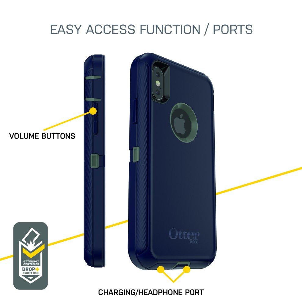 a8002ba2bb2 ... OtterBox Defender iPhone X/Xs Black - 5 ...