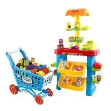 Supermarket Stall with Shopping Cart More Than 30 Accessories Included