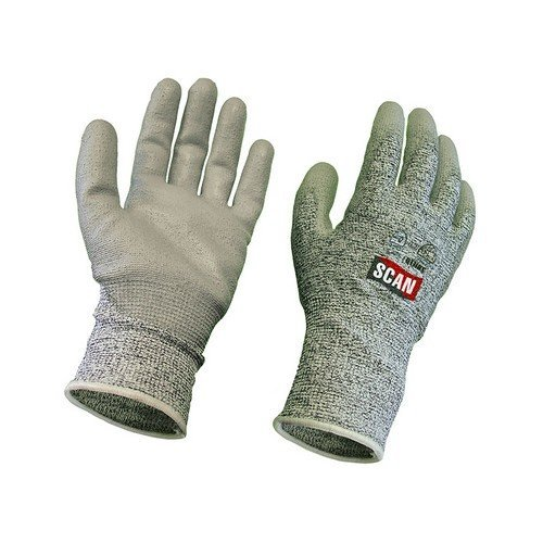 Scan 2AYH33J-24 Grey PU Coated, Cut 5 Liner Gloves - Large