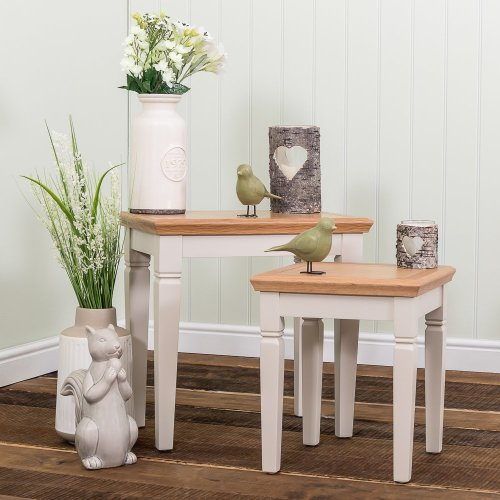 Kensington Painted Oak Nest of Tables