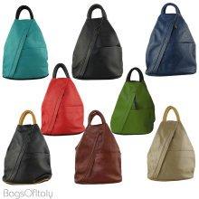 Daniela Moda Casual Designer Italian Leather Rucksack Handbag