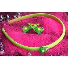 Plastic Frog Hairband & Clip -  icon headband clips frog