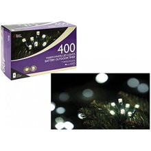 400 Warm White LED Outdoor B/op Timer Lights 8 Functions - Indoor Battery -  led indoor outdoor timer battery christmas lights 8 functions