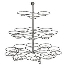Swirl 3-Tier Cake Stand - Chrome