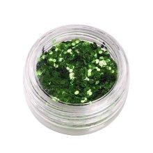 5 Boxes Makeup Glitter Sequins Shining Nail Art Sequins Face Glitter, Green