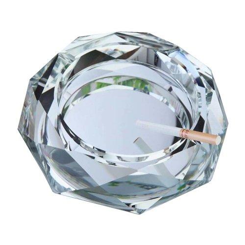 Rhombus Shape Crystal Cigarette Ashtray Ash Tray Tabletop Decoration