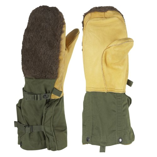 US Army ECW Issued Surplus Lambs Leather Arctic Mitt